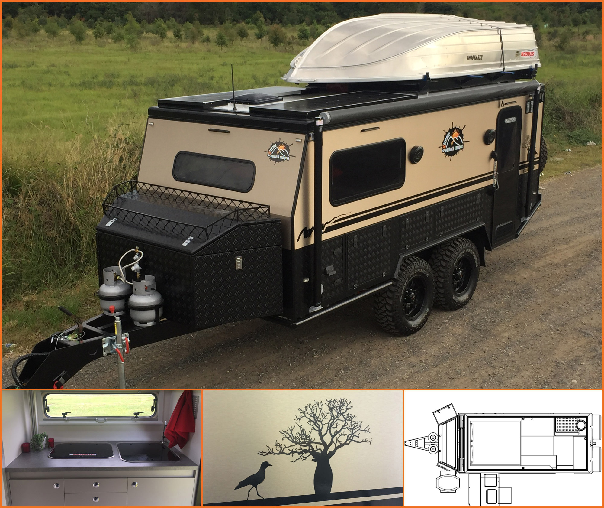 The new outback extreme caravan - the curlew